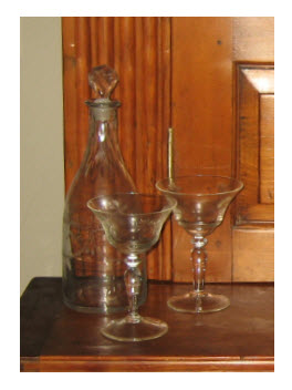 Vintage Glassware from here and there