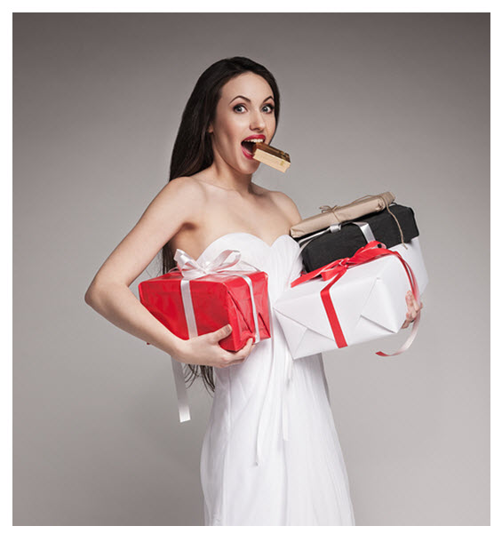 Elegant Woman with Gifts