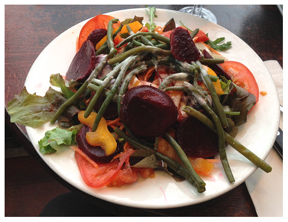 Salade Betterave avec Haricots Verts