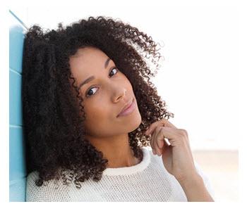 Beautiful African American Woman Thinking