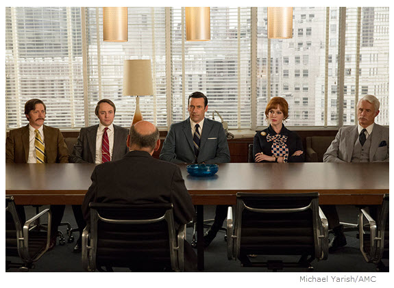 Mad Men Season 7 Episode 11 Partners at conference table