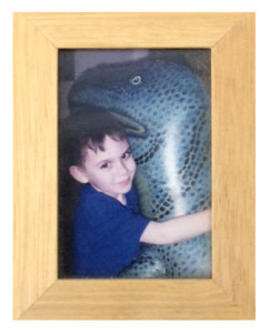 Little Boy With Dinosaur