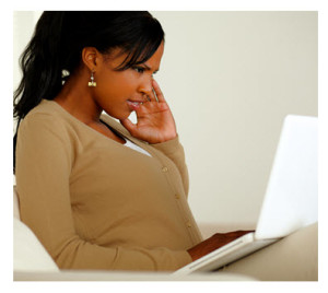 Woman Thinking About What She Is Writing