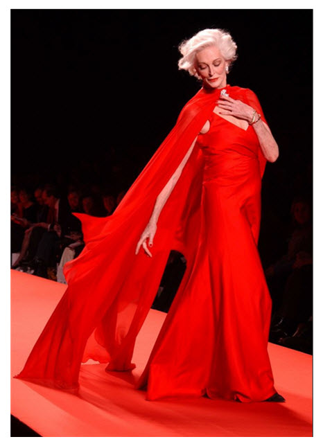 Carmen Dell'Orefice 2005 Red Dress Show