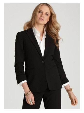 Fashion_Calvin Klein One Button Blazer at Bloomingdales