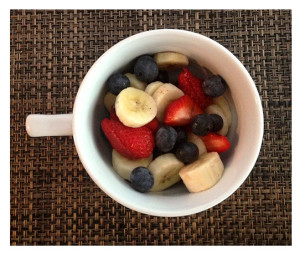 Fresh Cut Fruit_Strawberries Blueberries Bananas
