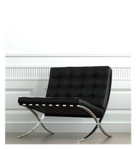 Classic Wall Black Barcelona Chair
