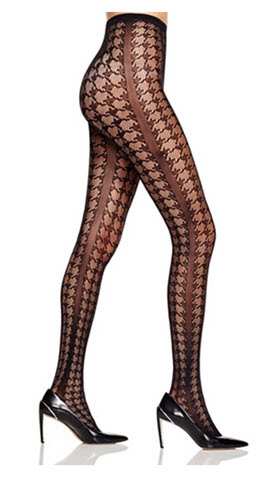 DKNY Houndstooth Net Tights at BLoomingdales