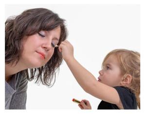 Mother Daughter Makeup_Little Girl Applying Makeup