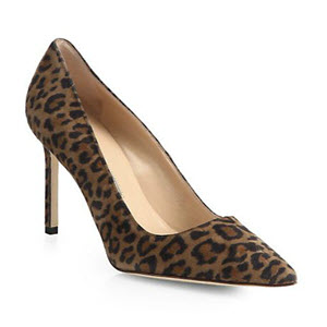 90 mm Manolo BB Pump_Leopard at Saks