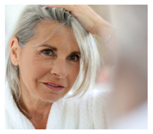 Woman Worried About Gray Hair