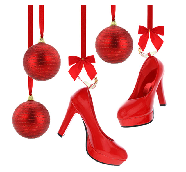 Red High Heel Shoe Ornaments