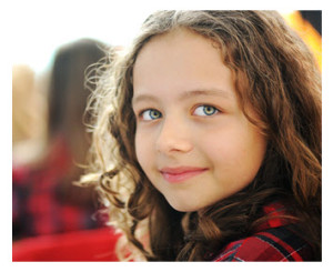 Cute School Girl Closeup