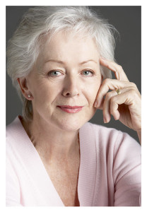 Beautiful 60 Year Old Woman With Silver Hair