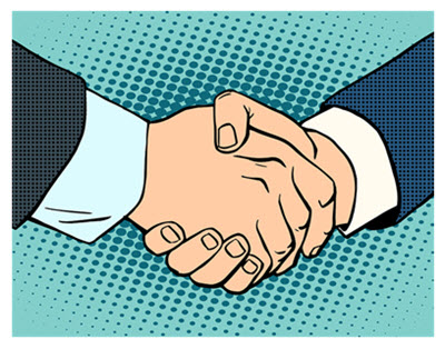 Image result for handshake cartoon