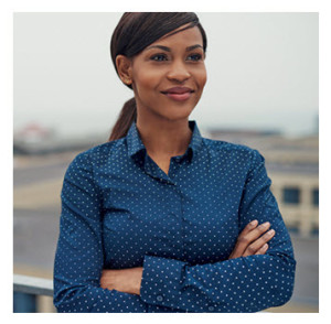 Confident African American Businesswoman Smiling